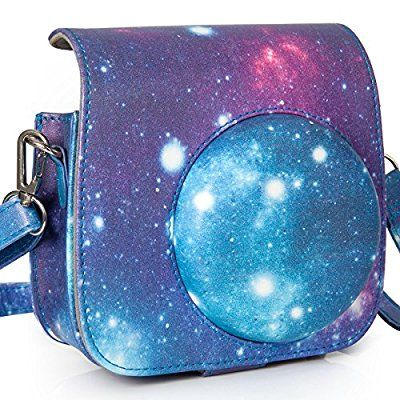 [Fujifilm Instax Mini 8 Case] - Nodartisan First Generation Galaxy Starry Sky PU Leather Case Bag for Instax Mini 8/8+ Camera - Film Count Show Design