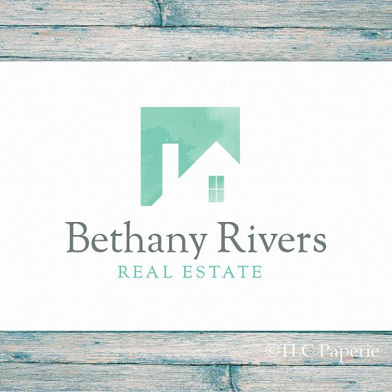 Real Estate Logo Realty Custom Realtor Contractor