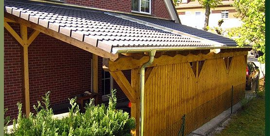 Car Port With One Side As Privacy Fence Carport Designs