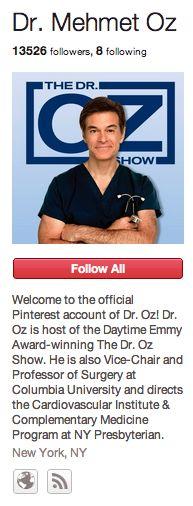Dr. Mehmet Oz Pinterest Site