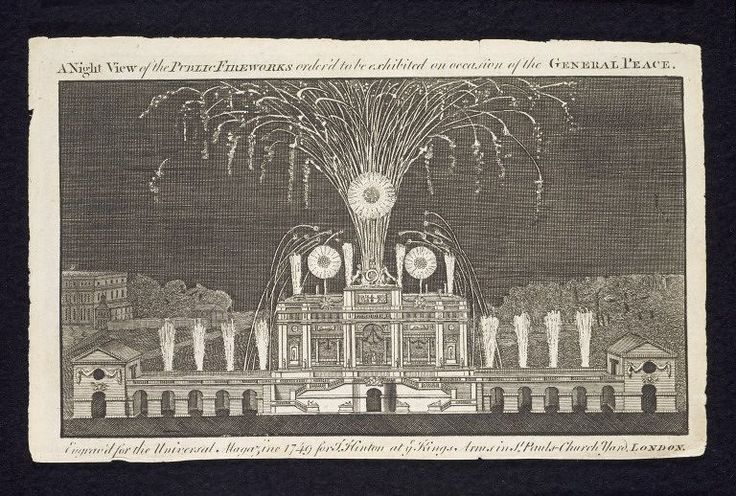 A Night View of the Public Fireworks order'd to be exhibited on occasion of the General Peace, London, 1749 l Victoria and Albert Museum