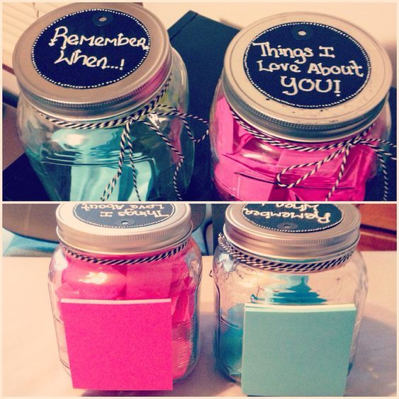 12 best jar ideas images on pinterest gift ideas diy presents and memory jar diy valentines day gift ideas for him solutioingenieria Images