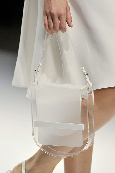 I'm fairly obsessed with the idea of a transparent bag at the moment - a possible DIY for the future.