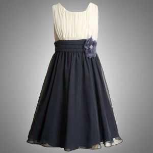 girls dresses 7-16 navy blue | Bonnie Jean TWEEN GIRLS 7-16 NAVY-BLUE IVORY COLOR BLOCK... review at ...