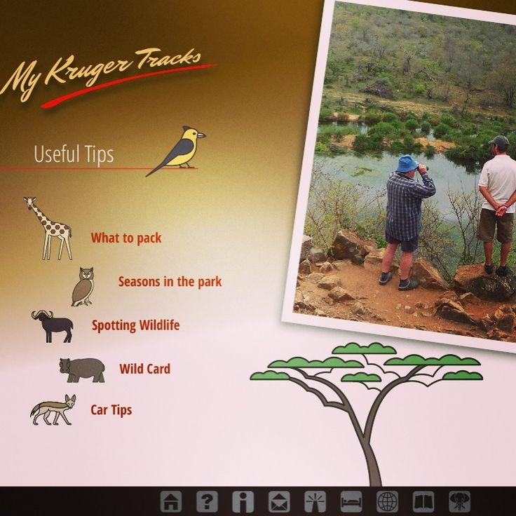 Useful tips app page from Kruger Tracks app. #krugertracks