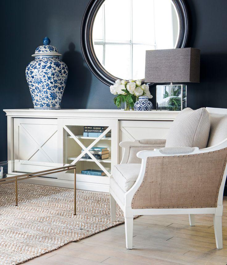 Classic Hamptons is our Frejac Entertainment Unit and Bellevue Armchair with Burlap upholstered sides. Visit us in store at La Maison Sydney or shop online! www.lamaison.net.au #lamaisonsydney #lamaisonbeautifulliving #lamaisonfurniture #interiordesign