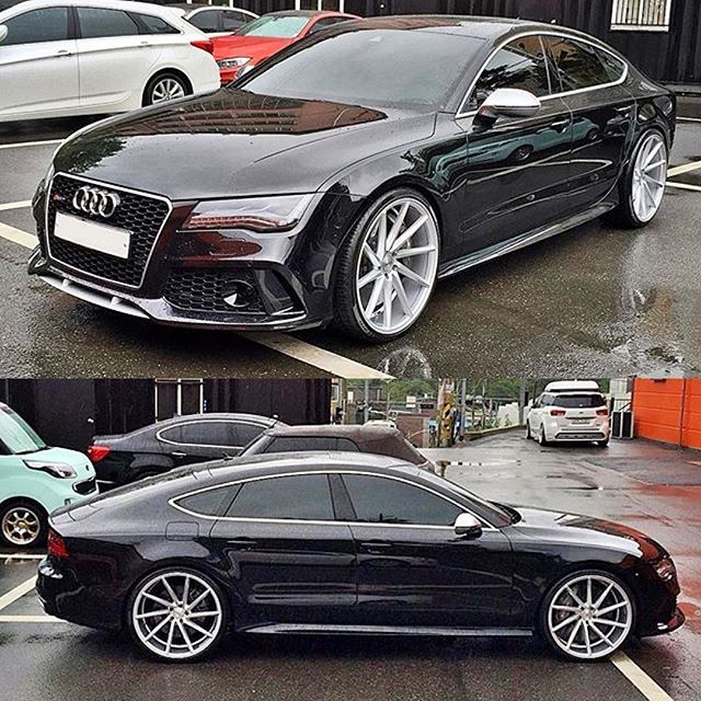 Audi Rs7 On Vossen Cvt Cars Pinterest Schlitten