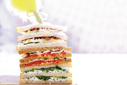 Sandwich gerookte kip en paprika