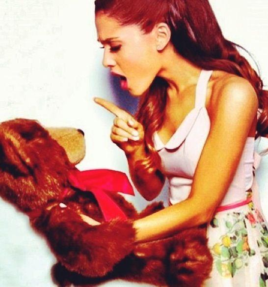 I Don't Take Crap From You, Bear! Haha Ariana! <3