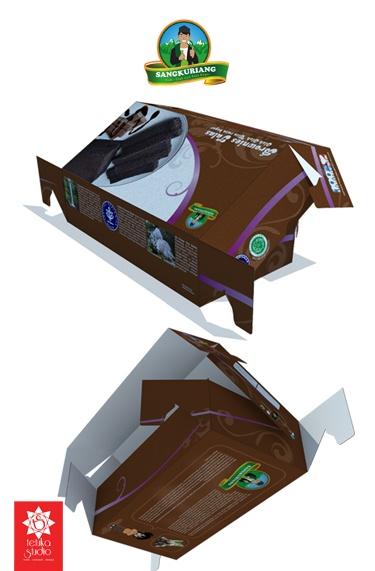 Brownies talas sangkuriang packaging