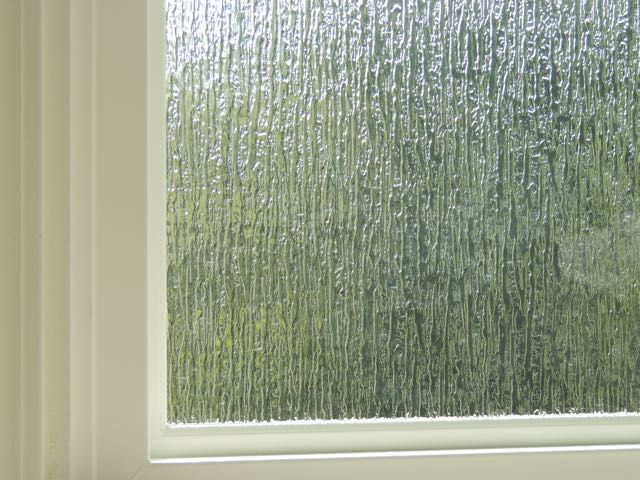 Rain obscure glass is a great decorative glass option for bathroom replacement windows