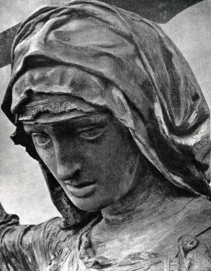 Всеобщая история искусств. Том 3. Донателло. Голова Юдифи. Фрагмент скульптурной группы «Юдифь и Олоферн» на площади Синьории во Флоренции. Бронза. Ок. 1455 г.
