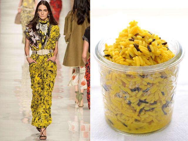 Etro ss 2014 / Parmesan and saffron risotto