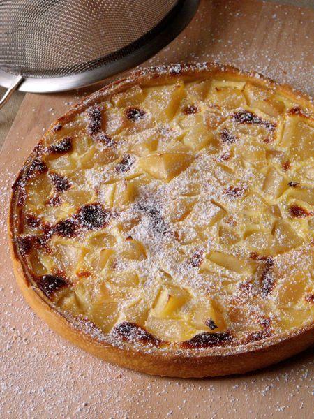 Pear Tart Alsatian way - Tarte aux poires façon alsacienne - Marie's cooking le blog