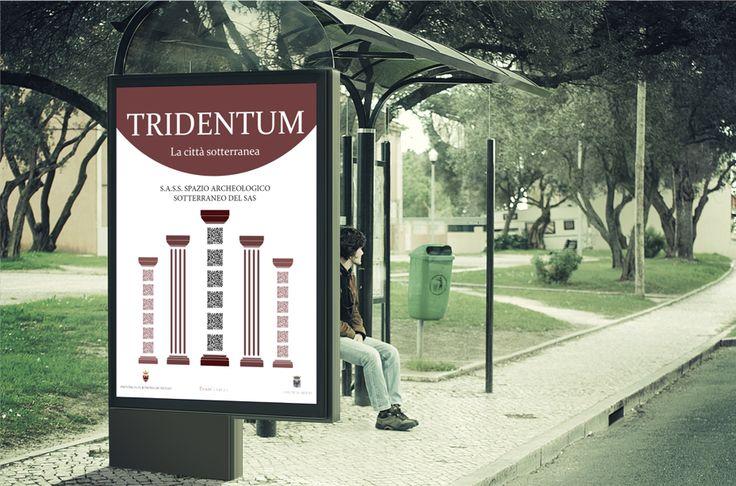Poster con uso creativo del qr code