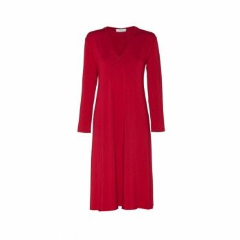 Mela Purdie Short Plunge Dress Block coloured Jersey is Mela Purdie's signature. This long sleeve Plunge V-Neck stretch-jersey knee length dress has a lightweight feel - perfect for layering under a coat or wearing in the city with ankle boots.
