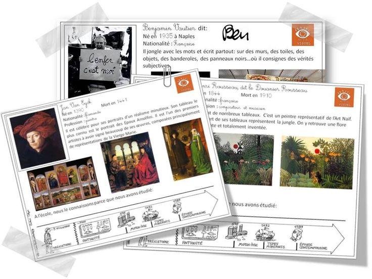Fiches pour les élèves en Histoire des Arts... Gé-ni-ales !!