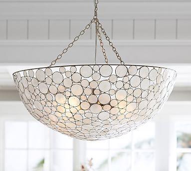 Marina Round Pendant #potterybarn - Over the kitchen table?