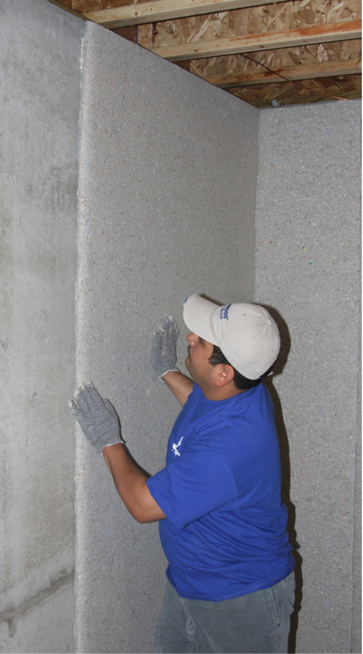 Ecocell blankets are a code compliant insulation material for Basement wall insulation blanket