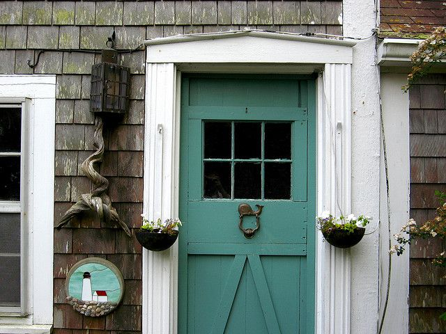 Cape Cod Shut The FRONT Door! With Greige Shutters On My Cream House With  White