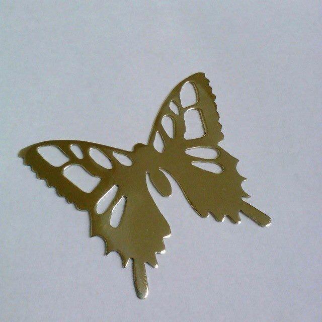 Mariposa calada en latón. Silvia Tapia.
