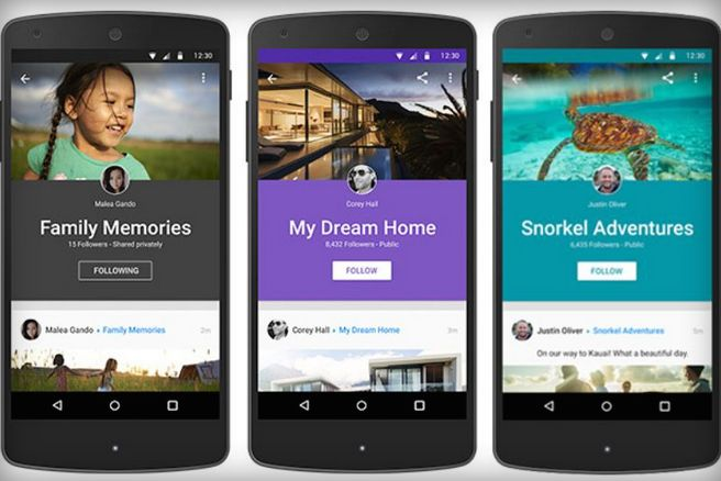 Google+ now offers grouping of posts as 'Collections'