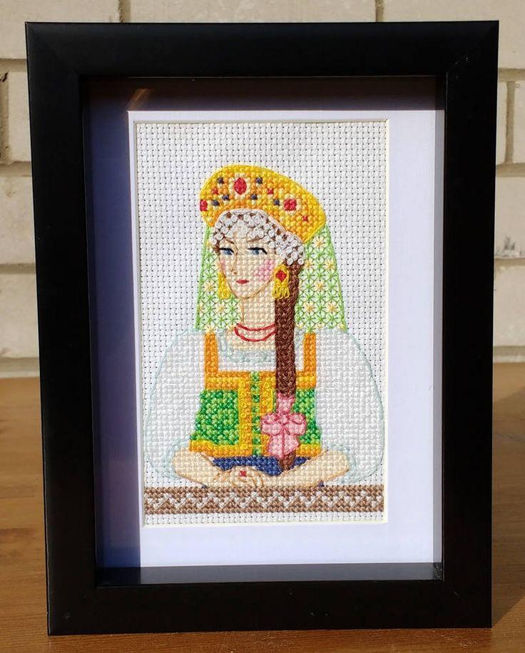 Russian Beauty Cross Stitch by LakeviewNeedlework on Etsy