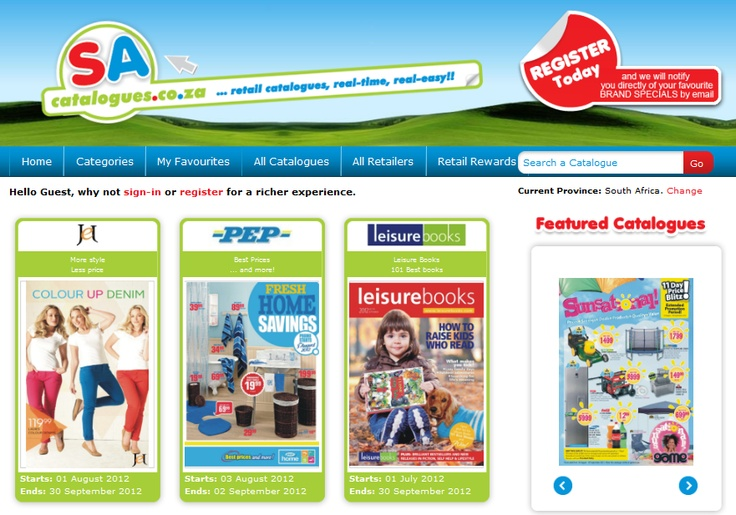 Online retail catalogue website built on Microsoft.NET platform with scheduled notifications and registrations