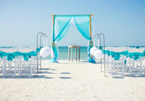 Aqua beach wedding