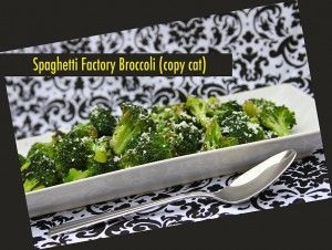 Copy Cat of Spaghetti Factory Broccoli with brown butter and myzithra cheese