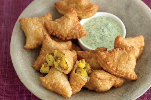 No Indian feast would be complete without these crispy pyramid-shaped pastries.