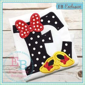 Bow and Shoes Applique Alphabet