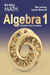 BIG IDEAS MATH Algebra 1  Common Core Student Edition-9781608408382