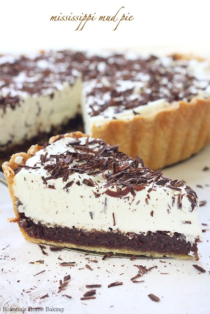 Flaky pie crust, incredible rich chocolate layer and light whipped cream make this Mississippi mud pie quite impossible for anyone to resist...