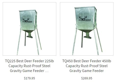 http://tqdirect.com/   Deer Feeders, Best Deer Feeder, Scent Elimination, Deer Lure, Energy Drinks, gravity deer feeder