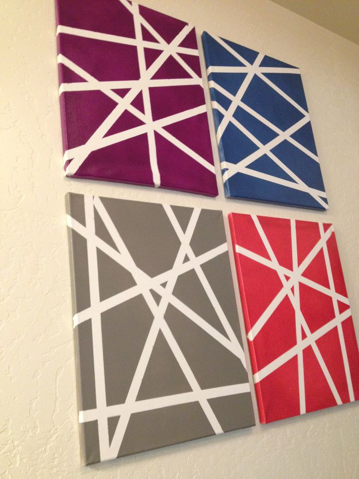 25 best ideas about painters tape design on pinterest for White canvas to paint