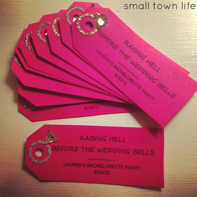 Bachelorette Party Favor Tags Or Could Be Cute For The Invites