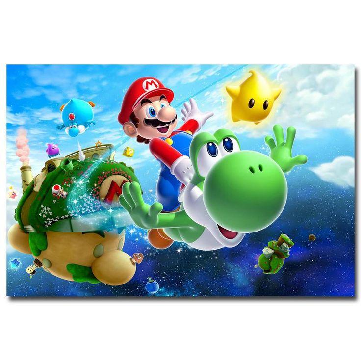 Super Mario Galaxy 2 Key Art Silk Poster