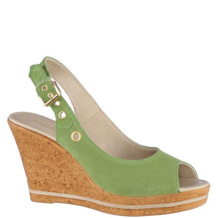 Sandale cu platforma,de dama marca Thurley Fete: piele naturala Interior: piele naturala Talpa: pluta Platforma fata: 2,5 cm Platforma spate: 10 cm