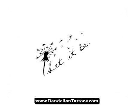 Let It Be Dandelion Tattoo 10 - http://dandeliontattoos.com/let-it-be-dandelion-tattoo-10/