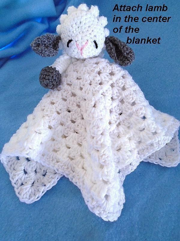 Crochet PATTERN, Little Baby Lamb Cuddle Blanket, Lovey ...