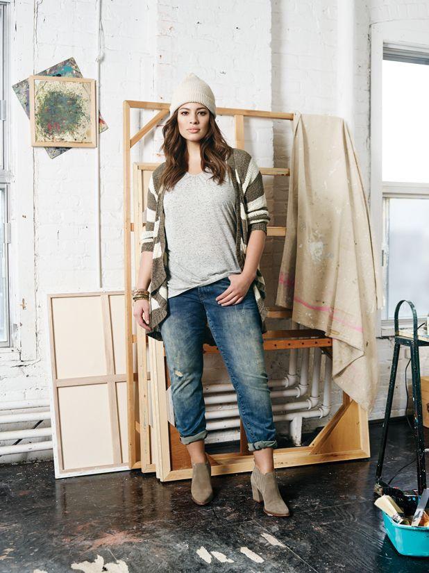 Джинсы +: комплекты для полной фигуры С чем носить джинсы полным девушка и женщинам