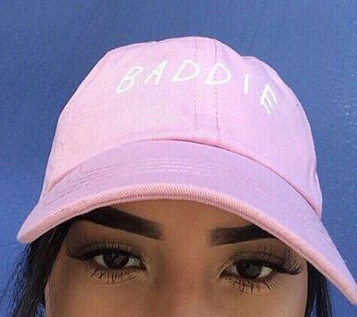 Baddie Pink Baseball Hat Embroidered
