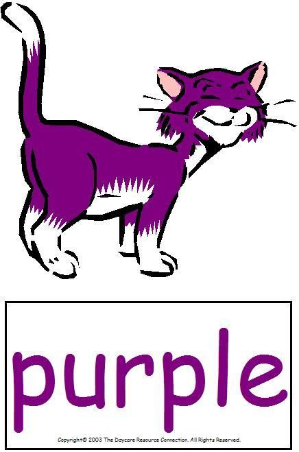 Purple and a cat! My favs ♥.