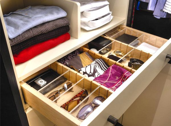 Scarves in a drawer