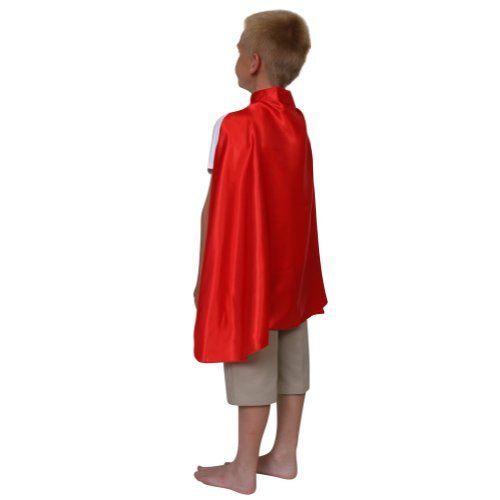 "Kids Deluxe 24"" Satin Red Superhero Cape @ niftywarehouse.com #NiftyWarehouse #Superman #DC #Comics #ComicBooks"