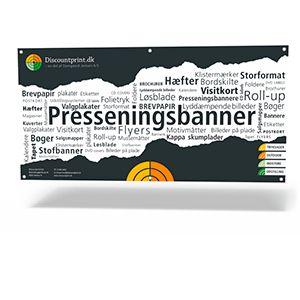 Presenningsbanner produceres i formaterne fra 60x100 cm. til 300x300 cm. på 370 gr. PVC Pressenning, er gode til udendørsbrug