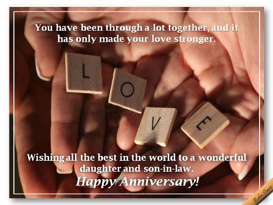 Wedding Anniversary Inspirational Poems Daughter Son In Law: #Anniversary #Daughter #SonInLaw #ecard Www.123greetings