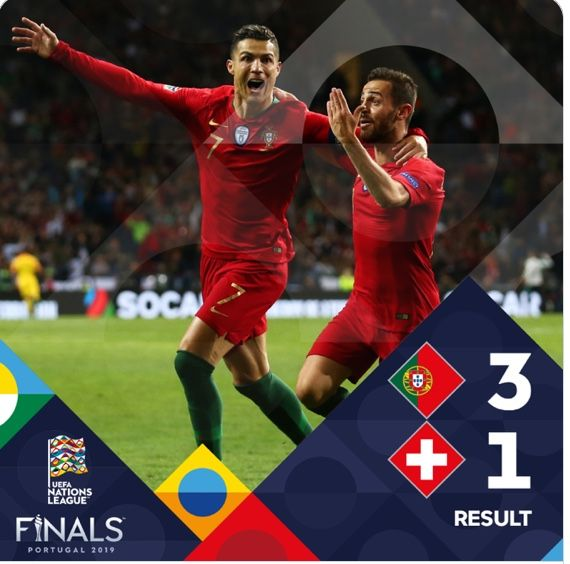 Christiano Ronaldo With A Hat Trick Sends Portugal To The Nations League Final Uefa Nations League Soccer Jersey Soccer Socks