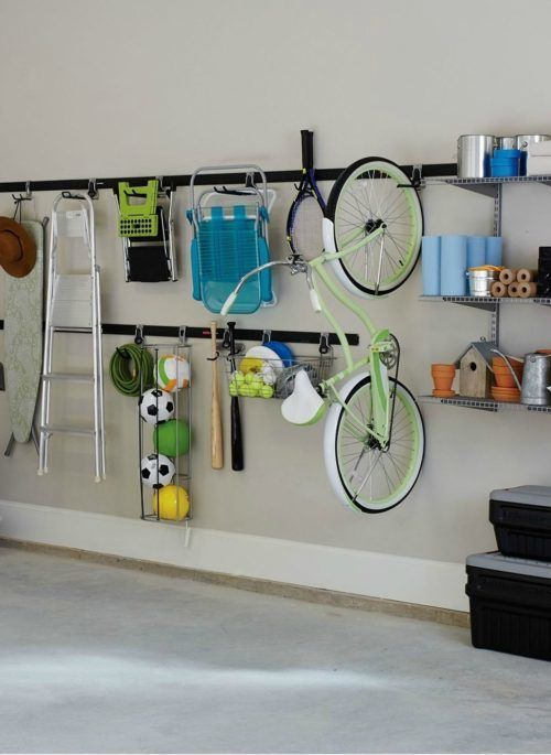 Rubbermaid FastTrack Garage Hang Rail. Easy Garage Storage Solutions will help you organize your home. Inspiring KonMari methods to stage and tidy your outdoor space including garage hacks